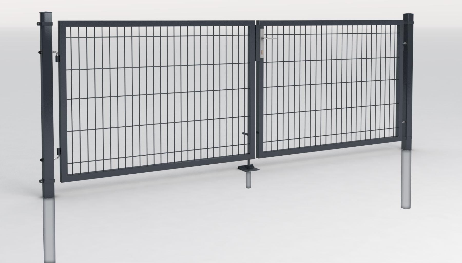 2 fl gel einfahrstor toranlage gartentor tore ca 3m zauntor rahmentor gittertor ebay. Black Bedroom Furniture Sets. Home Design Ideas