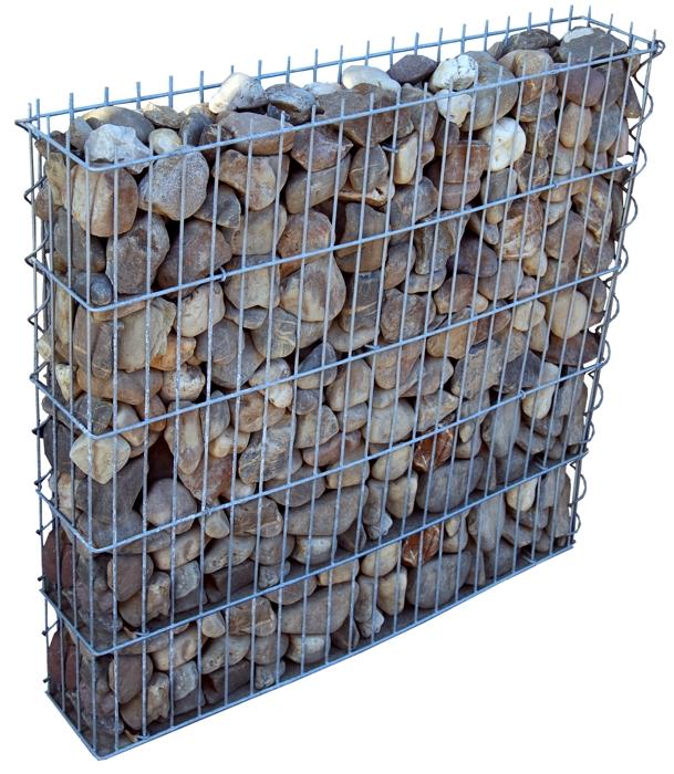 gabione steinkorb gabionenkorb 1m x1 03m nur 20cm breit. Black Bedroom Furniture Sets. Home Design Ideas