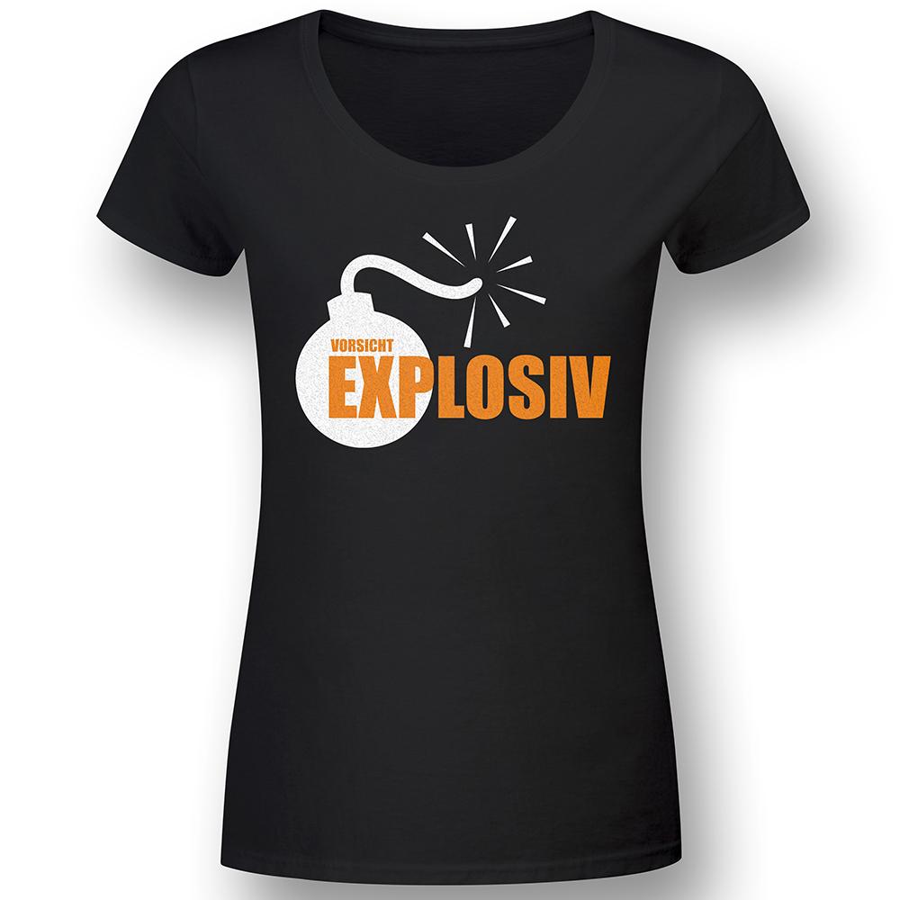 Vorsicht Explosiv - Lady Fun-Shirt
