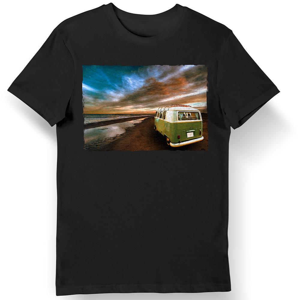 VW t2 Bus Motiv Bild - T-Shirt Fun-Shirt Oldtimer Luftgekühlt