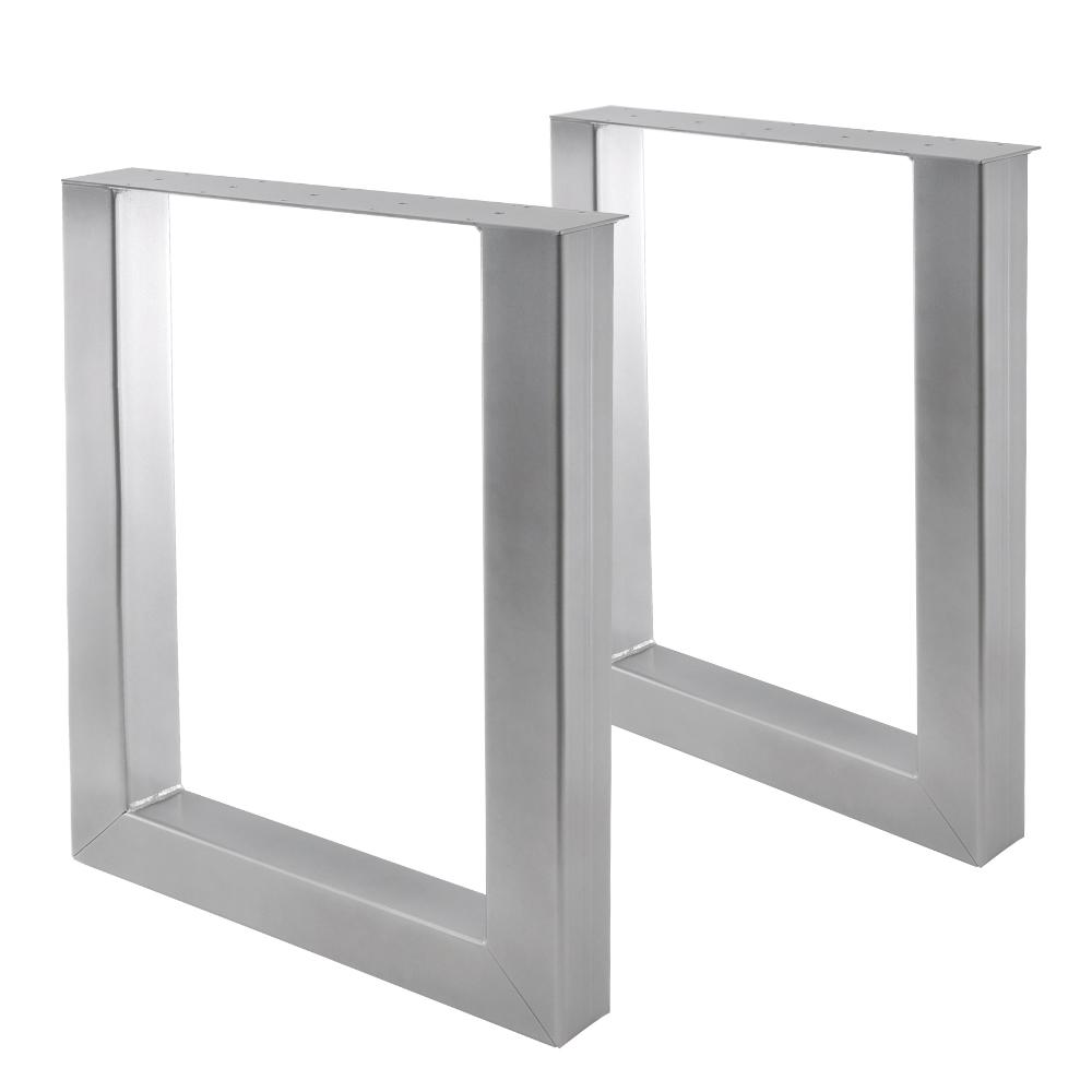 Tisch U 80/80 Silber 2er SET