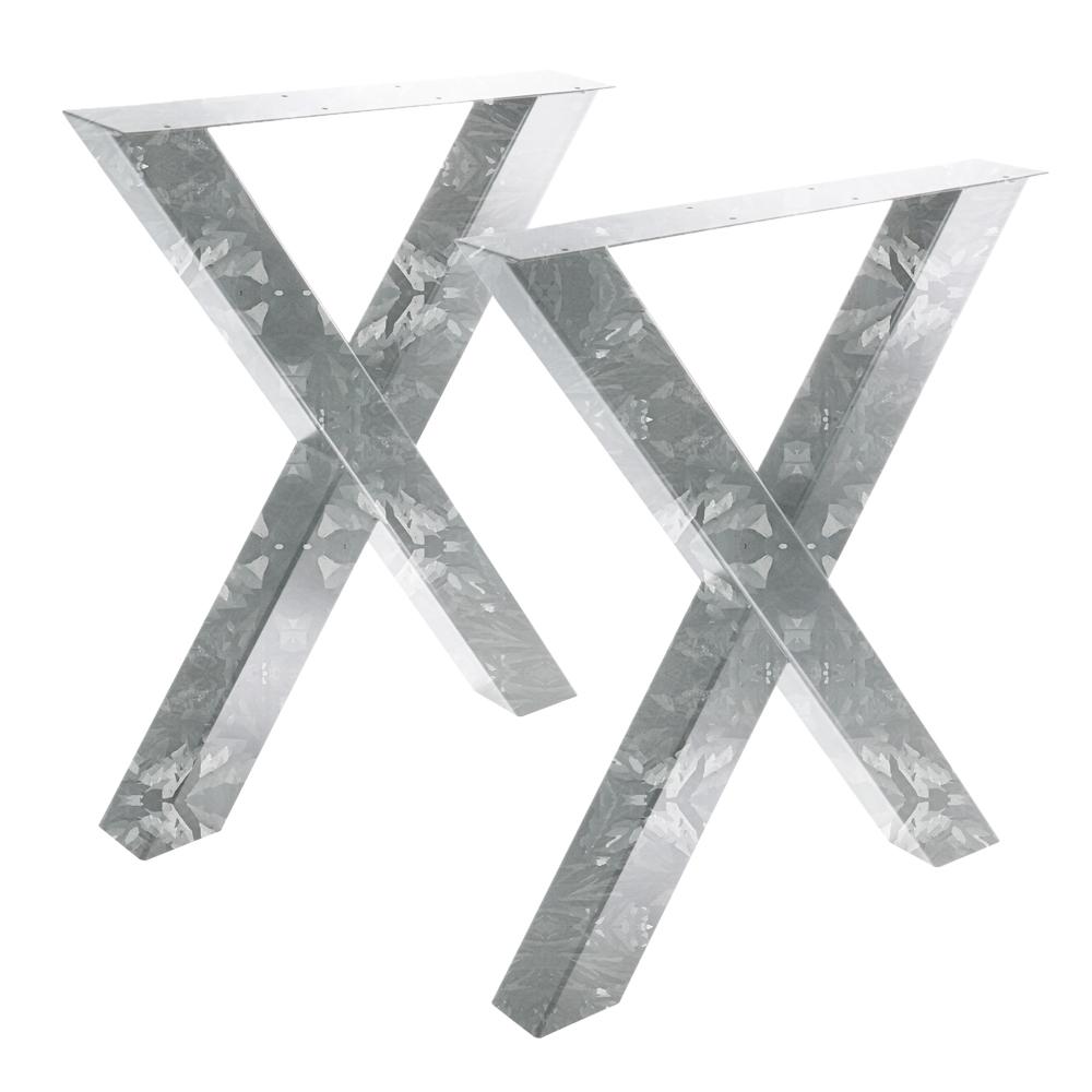 Tisch X Outdoor - 80/80 Feuerverzinkt 2er Set