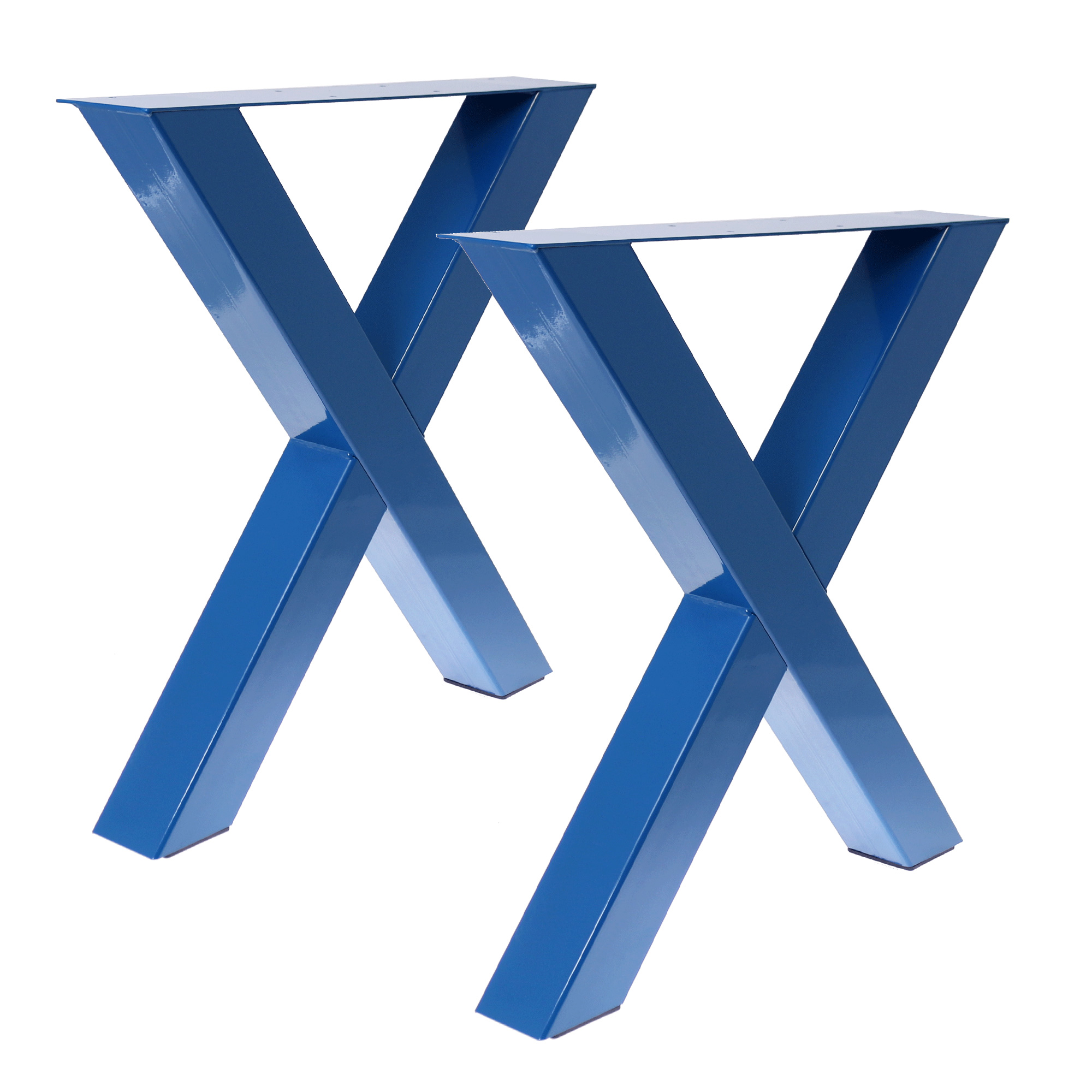 Tisch X - 80/80 Capriblau 2er Set