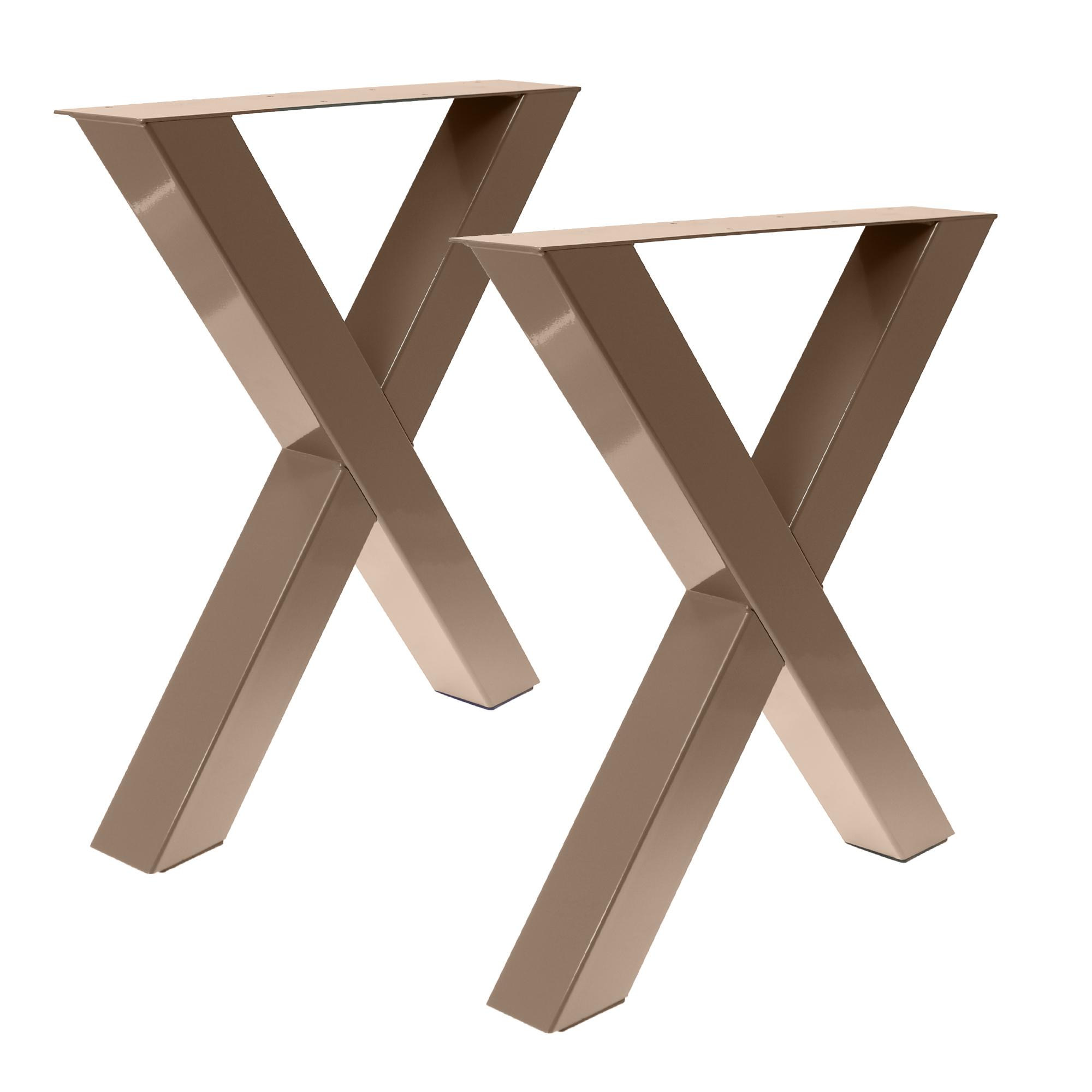Tisch X - 80/80 Graubeige Optik 2er Set
