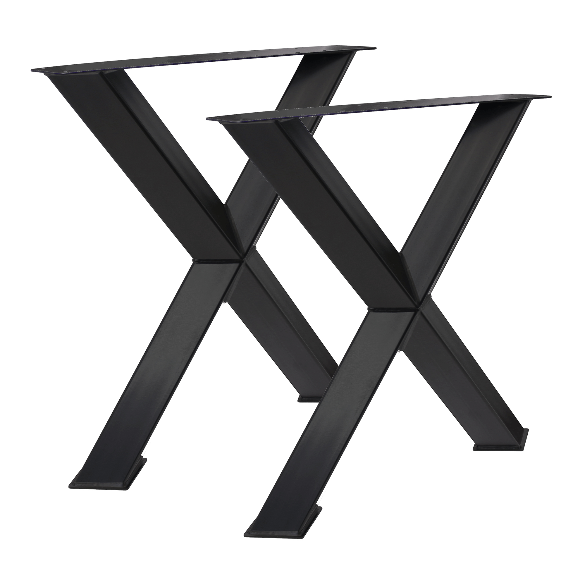 Tisch X45° - 80/80 schwarz matt 2er Set
