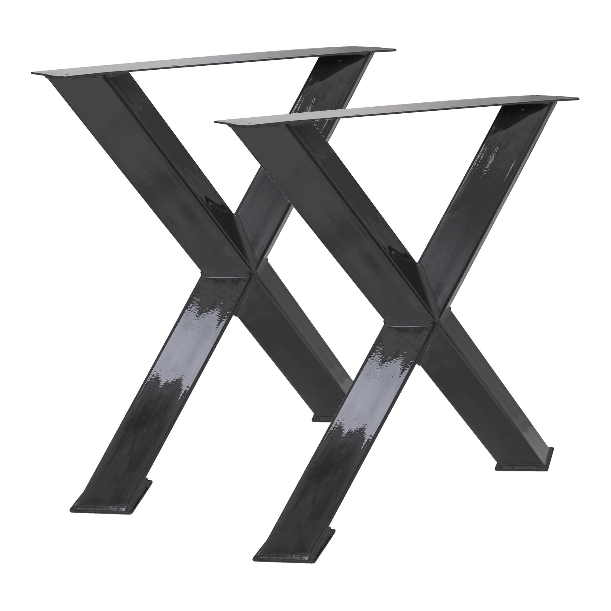 Tisch X45° - 80/80 Klarlack 2er Set
