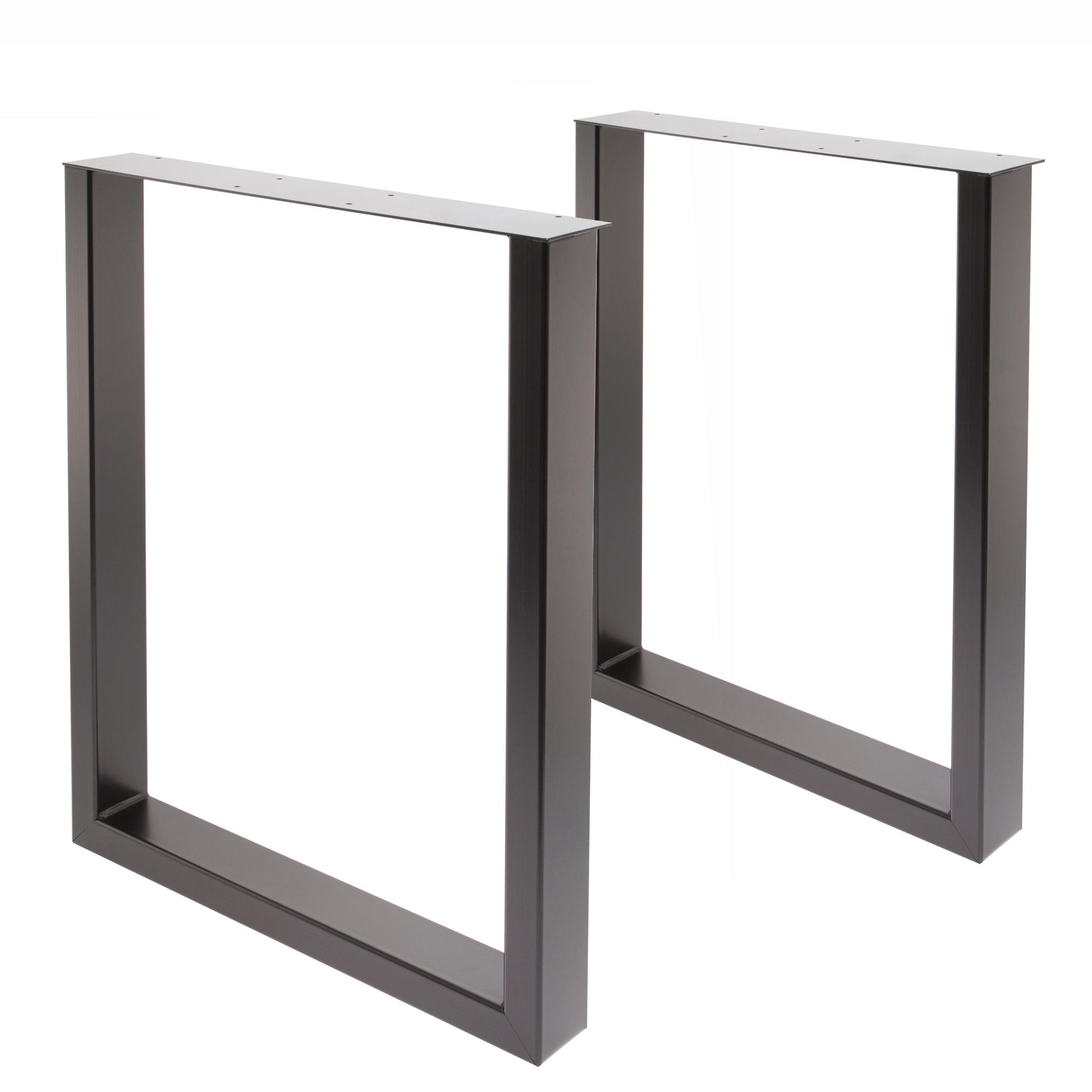 Tisch U 80/40 schwarz 2er SET