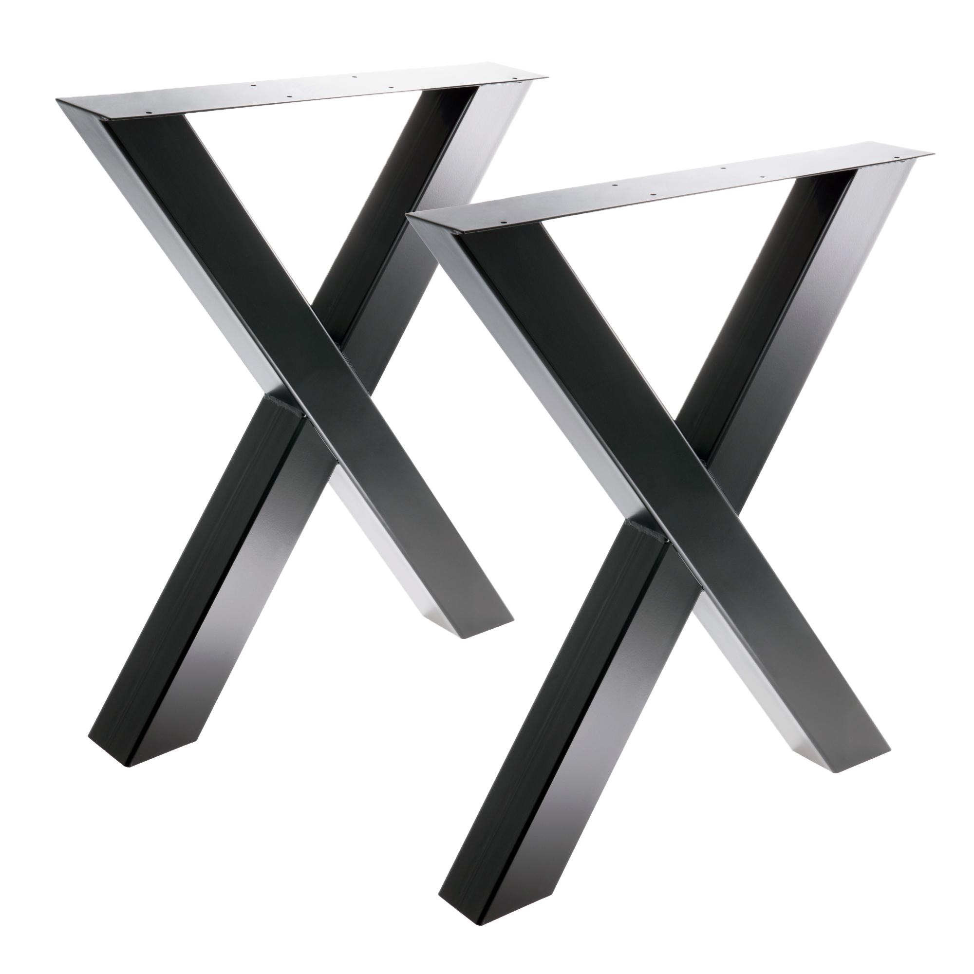 Tisch X - 80/80 schwarz 2er Set