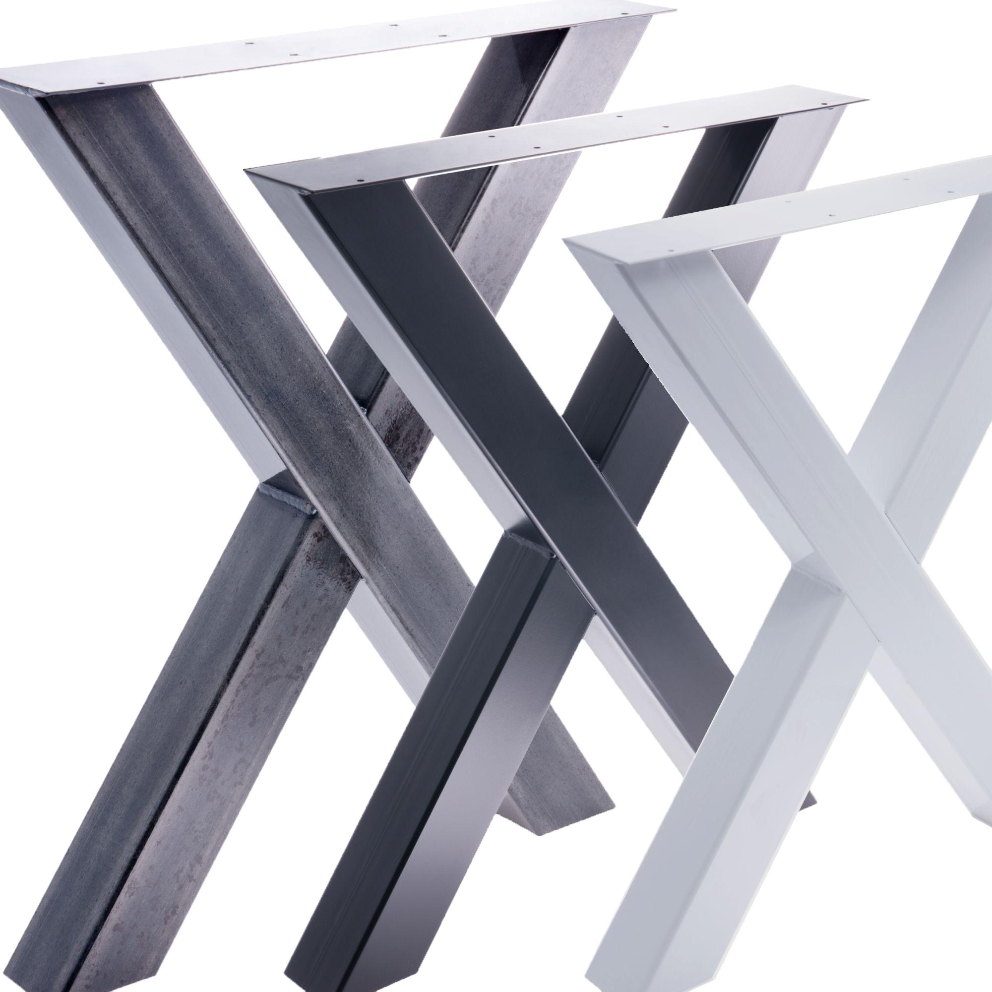 tischgestell tischbein x gestell esstisch schreibtisch tisch m bel loft stahl ebay. Black Bedroom Furniture Sets. Home Design Ideas