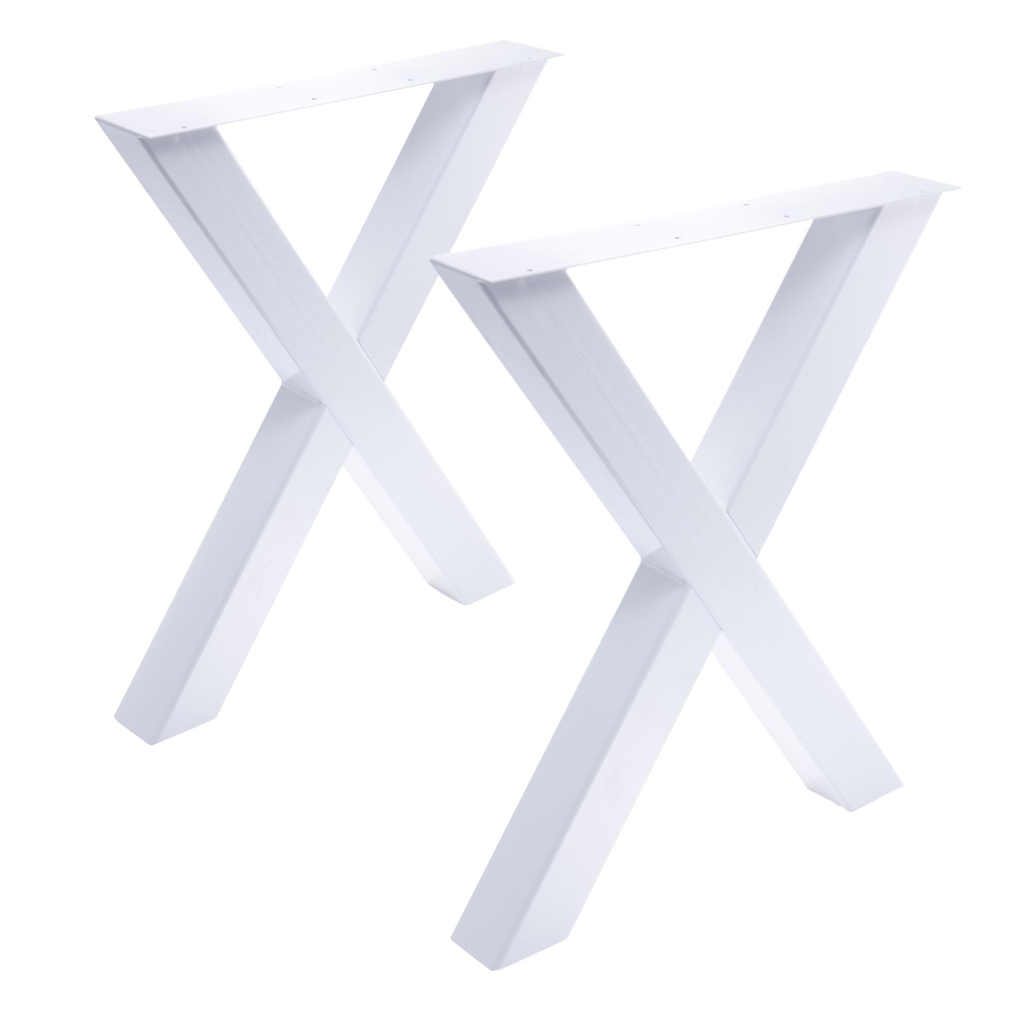 Tisch X - 80/80 weiß 2er Set