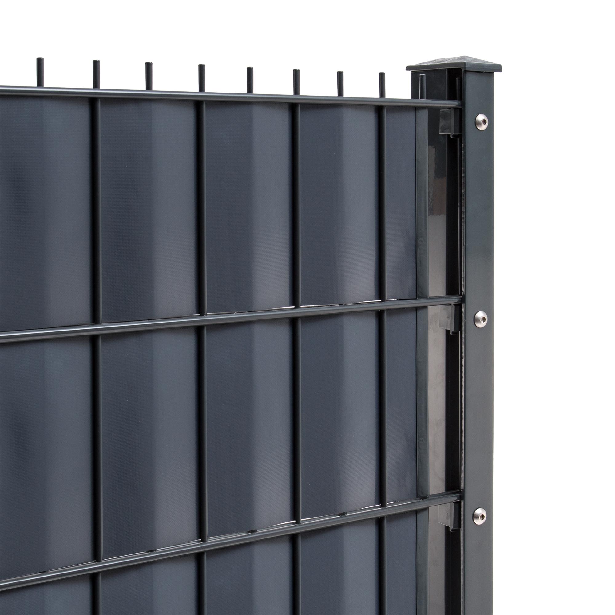 Doppelstabmattenzaun Pfosten Sichtschutz Gartenzaun Zäune