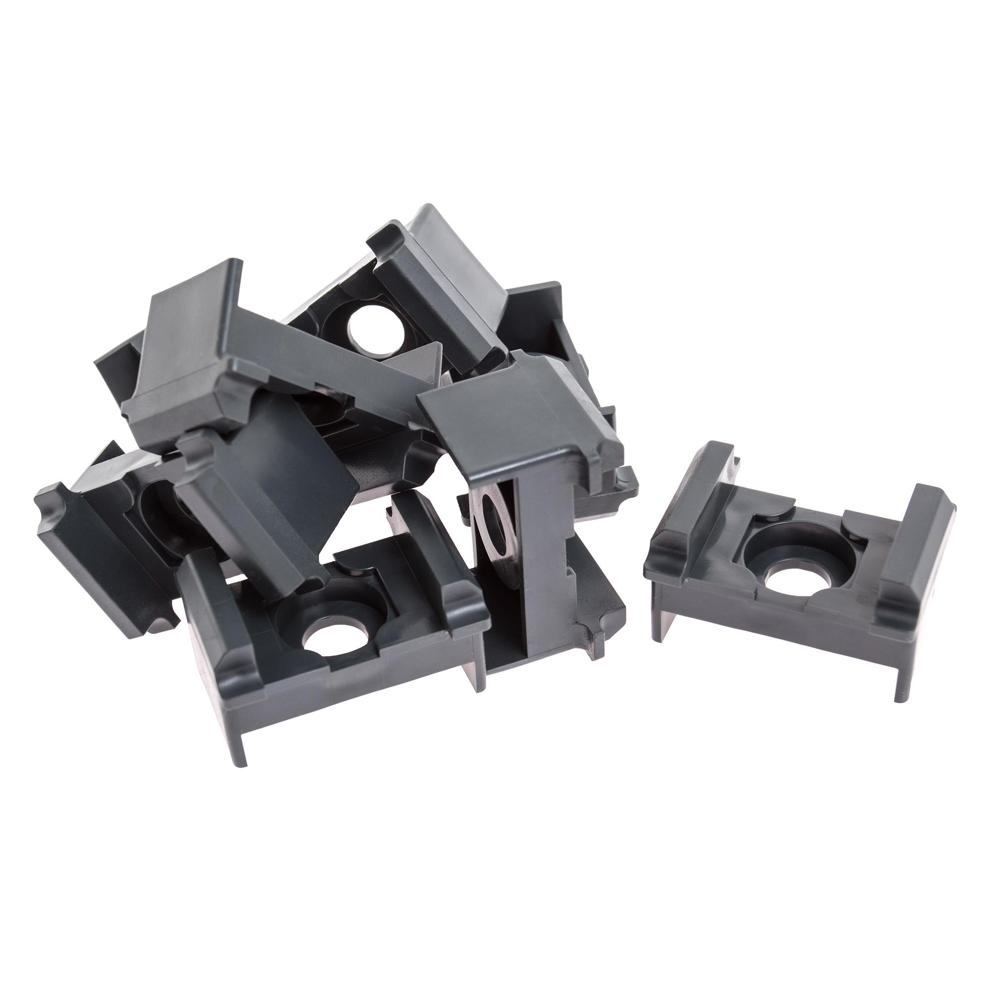 Camas Eckpfosten Links Typ2 mit Clip anthrazit 830mm
