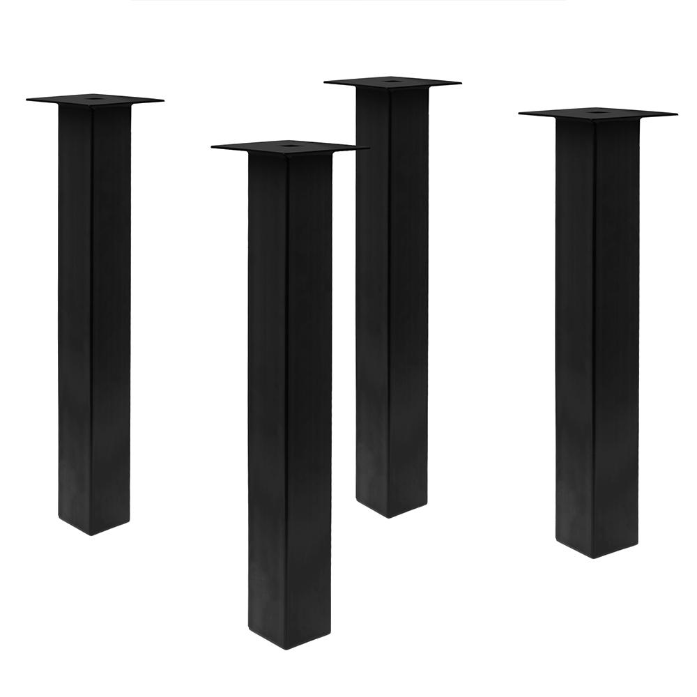 Tischbeine - 80/80 schwarz matt 4er Set