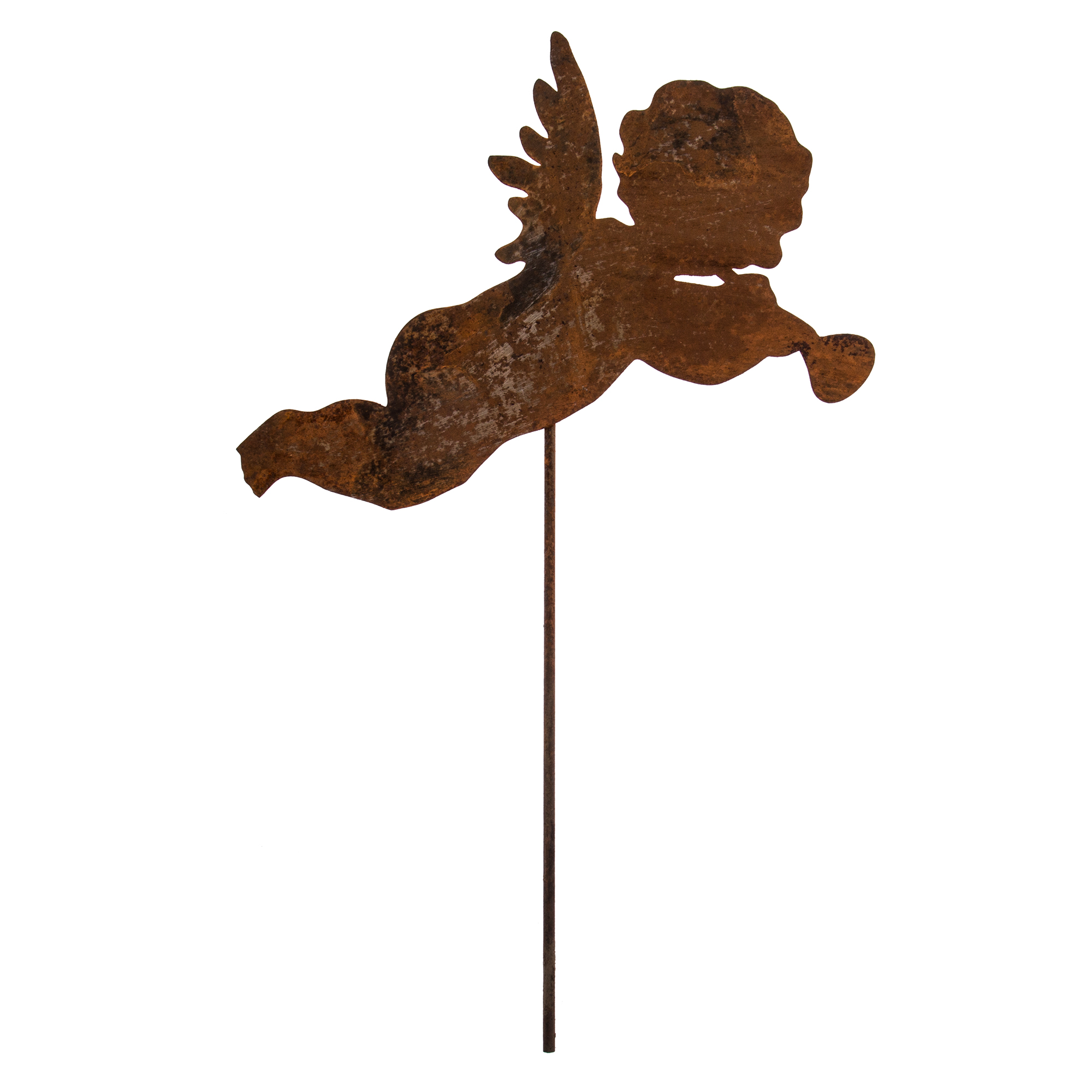 Gartenstecker edelrost engelchen engel garten metall rost for Gartenstecker edelrost