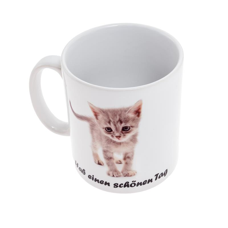 guten morgen katze sch nen tag cat kaffeetasse baby kitty motive tasse ebay. Black Bedroom Furniture Sets. Home Design Ideas